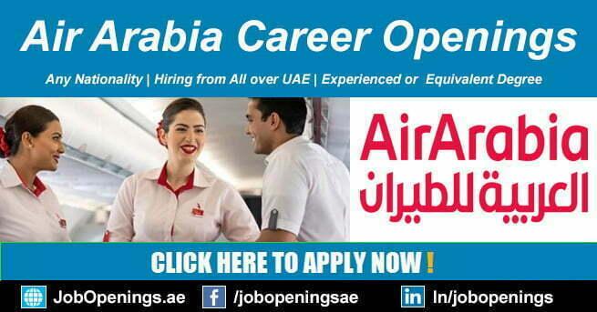 Air Arabia Careers 2021 Airline Jobs in Sharjah